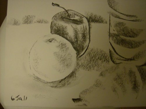 Midnite still-life (sketch)