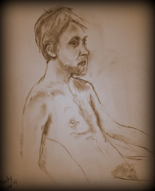 2 sketches from Stratford lifedrawing (13 apr 14)