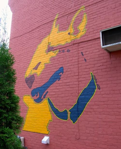 wall mural opposite Grange Park